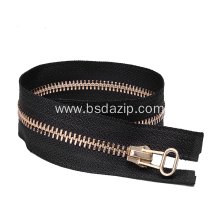 Top for Metal Brass Zipper Brass #3 38 Inch Zipper for Leather Jacket export to Poland Factory