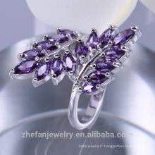 Bague en argent 925, bijoux de fantaisie de mode Chine CZ anneaux