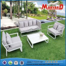 Conjunto de sofás de aluminio para patio