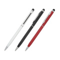 Slim metal hotel pen with stylus