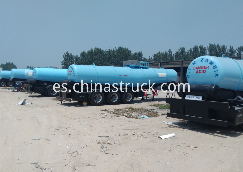 3 axle 21CBM V shape sulfuric acid tank semi-trailer