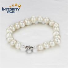 Bracelet de perle d'eau douce naturelle de 8 mm AA