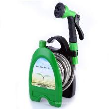 B17 Edelstahl Gartenschlauch Waschanlage Hochdruck Wasserpistole Schlauchtrommel