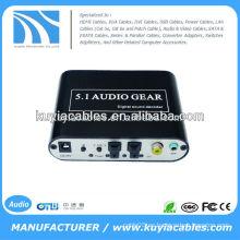 Decodificador de audio digital de 5.1 canales, convertir audio digital de fuente DTS / AC3 a audio analógico 5.1 o salida de audio estéreo