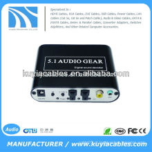 Decodificador de áudio digital de 5.1 canais, converter áudio digital de origem DTS / AC3 para áudio analógico 5.1 ou saída de áudio estéreo
