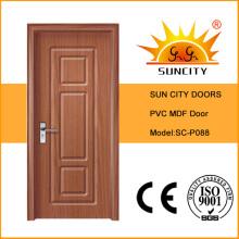 Новый дизайн МДФ ПВХ дверь деревянная спальня (СК-P088)
