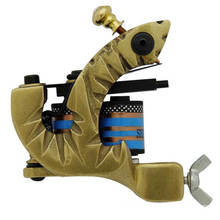 Wholesale Brass 10 Wrap Coil Tattoo Machine Gun T-6