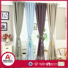 Nuevas cortinas lisas elegantes 100% poliester para la sala de estar