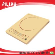 2016 Super Slim Golden Color Sensor Touch 2 Pantalla LED Ultra Thin Hecho en China Estufa de Inducción / Induction Cooktop