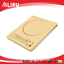 2016 Super Slim Golden Color Sensor Touch 2 LED Display Ultra Thin Made in China Induction Stove/ Induction Cooktop