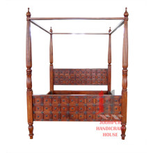 Double Bed with Poles
