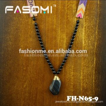 Богемия стиль большой Агат драгоценных камней ожерелье
