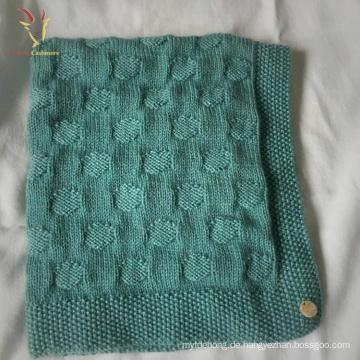 Benutzerdefinierte Hand gestrickte Cashmere Blend Baby Throw Blankets