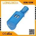 2015 новый продукт мини-пуля двойной USB-адаптер 2-х портовый автомобильный адаптер, рождественский подарок электрический автомобиль зарядное устройство