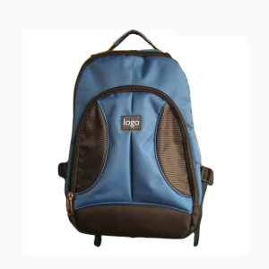 Blue Hiking Backpack Shoulder Bag with Logo Printing