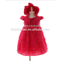 Recién llegado de bebé y niños pequeños Tulle Party Dress Infant Girls Fancy Dresses para bebé