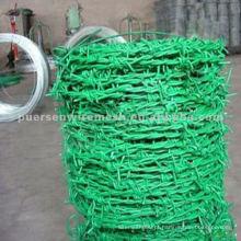 Arame farpado revestido de PVC 16 * 18