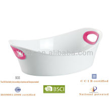 silicone handle oval ceramic baking tray
