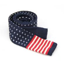 Guter Preis heißer Verkauf Männer gestrickte Polyester flache Krawatte