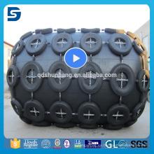 Fabricación china profesional Yokohama mecanografía la defensa de goma para el barco