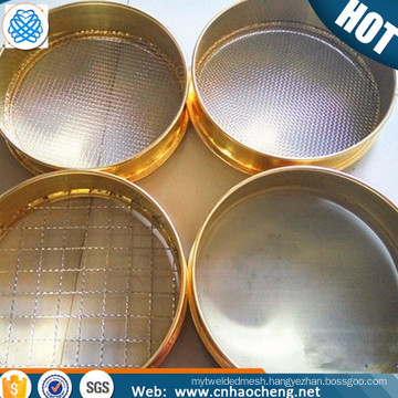Brass laboratory sieve for analysis particle size distribution