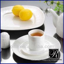 P & T usine de porcelaine Vente chaude de porcelaine assiette