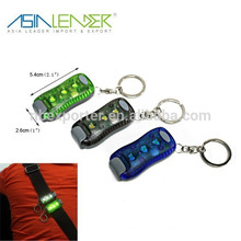 3 LED Clip-on Light Luminosité réglable Night LED Keychain