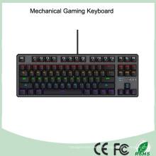 7 colores colorido iluminado iluminado retroiluminador ergonómico teclado de juegos mecánicos