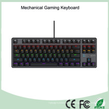 7 cores colorido LED Iluminado ergonômico Backlight Mechanical Gaming Keyboard