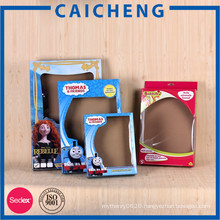 Customized corrugated toy paper box packaging with window