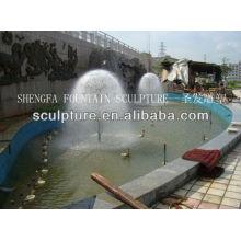 2016 Escultura nova da fonte da árvore do dente-de-leão da estátua da fonte de água do aço inoxidável do metal de alta qualidade