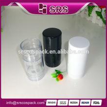 Forma Redonda 30ml 50ml 75ml Cosmetic Packsaging Para SKincare Desodorante Vara Container Única Garrafa Para Atacado