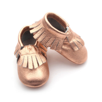Brand Crib Shoes Rose Gold Baby Moccasin Shoes