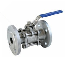 Stainless Steel Flange Three Piece Floating Ball Valve