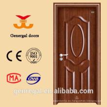 Sala de estilo clásico europeo Puertas de acero de madera