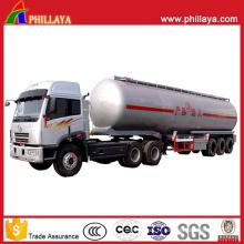 Pétrolier d'acier inoxydable d'huile de remorque de transport de réservoir de carburant de 3axles avec le volume 30-60cbm