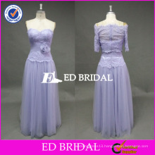 ED Bridal Elegant Lavender Flower Waist Sweetheart Neckline Sleeveless Tulle Prom Dress With Jacket 2017