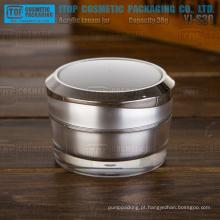 YJ-S30 30g de puro e duro plástico acrílico de espessamento duplo frasco prata matt de camadas 30g