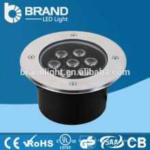 Hot Sales AC85-265V 7W RGB lumière souterraine, CE RoHS