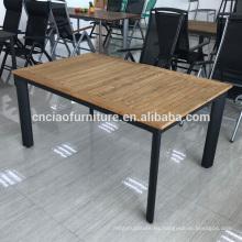 Mesa de extensión de madera de teca al aire libre de nuevo diseño