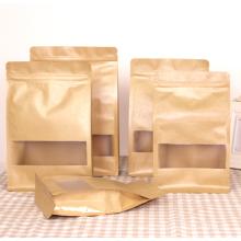 Sacs en papier kraft brun fermeture à glissière pour le fret sec