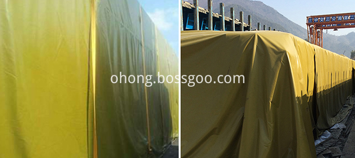 Yellow PE tarpaulin for cover