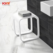 Sanitary Ware Artificial Stone Acrylic Solid Surface Shower Stool Chairs