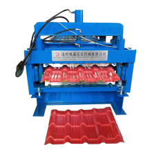 Double roofing panel sheet roll forming machine