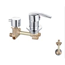 Bathroom 3 Ways mixer faucet  santary ware factory OEM  brass wall mount mixer bathroom shower faucet