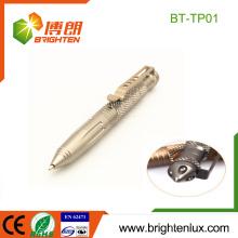 Logo de l'usine Imprimé Outdoor Camping Hard Aluminium Multi-fonction Ball Point Tactical Pen Self Defense