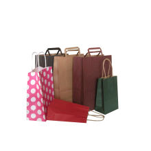 Color Kraft Paper Gift Bag with Handle