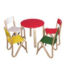 Neuer hölzerner Speisetisch und Stuhl für Kinder, hölzernes Spielzeug-Kind-Speisetisch und -stuhl, preiswerter Speisetisch und Stuhl-Spielzeug Wj277589