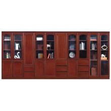 Mobiliário chinês armário de arquivo de suprimentos com porta de vidro e gavetas (FOH-AM1623 & 1633)