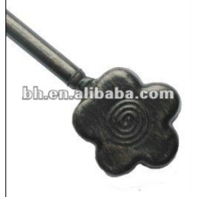 black flower metal curtain rod,pool aluminium pole hanger